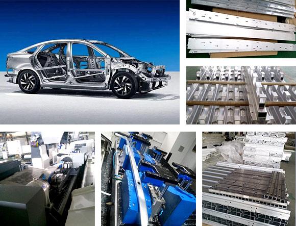汽车零配件铝型材加工中心BT30适用行业